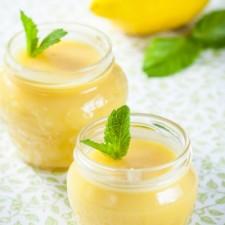 Lemon flavour flan