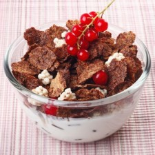 Chocolate and cereal breakfast